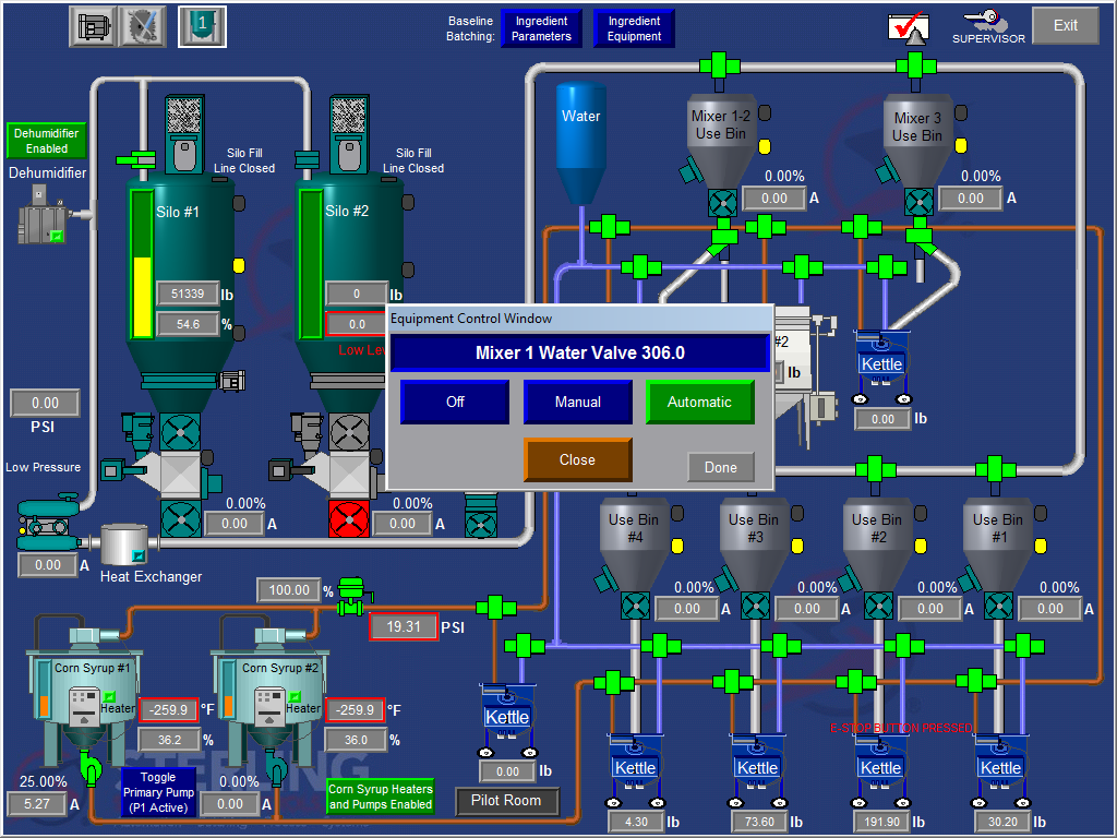 Process Control for Food Ingredient Production