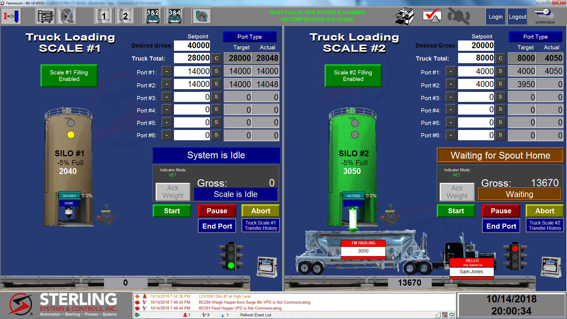 Sand Facility Automated Control System